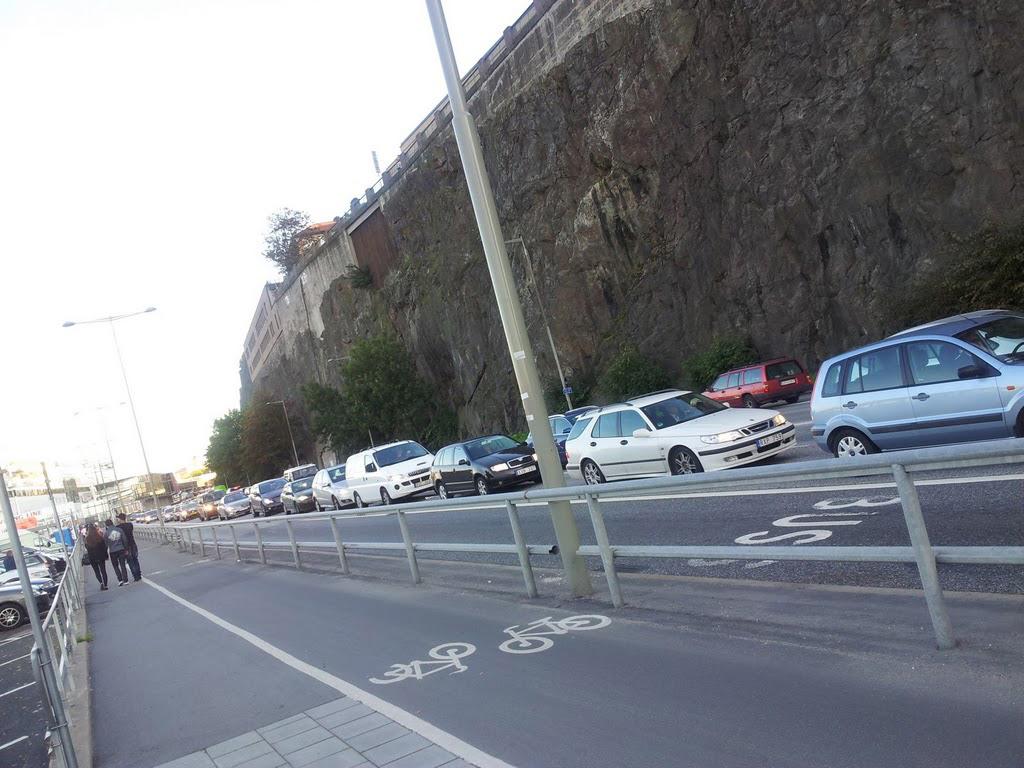 Snart på väg till cykelgaraget