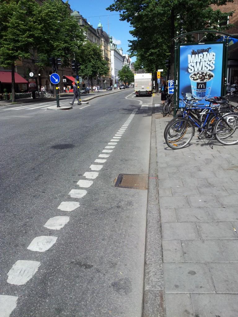 Inget cykelfält
