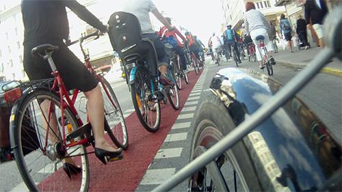 """Götgatan, som ni ser äntligen en """"cykelled"""""""