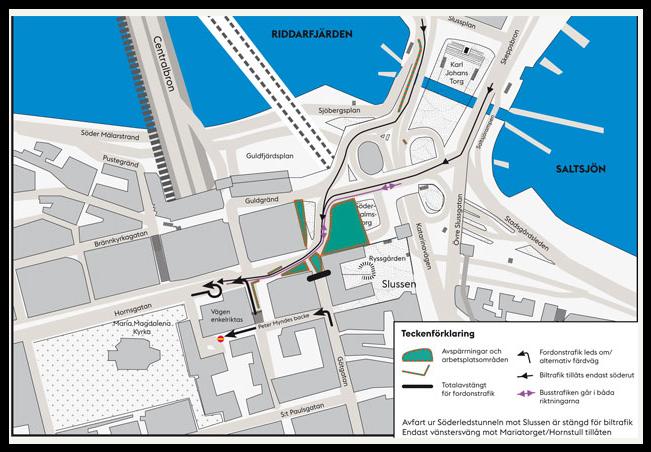 Trafikomläggning Slussen 2014