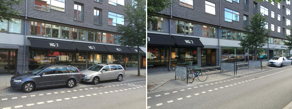 Två bilar = tio cyklar