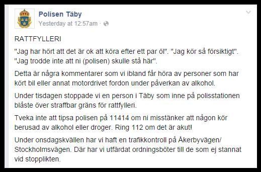 Polisen Täby Facebook 2