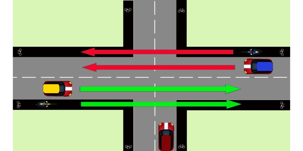 Enkelriktad cykelbana 1