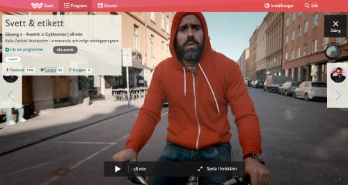 Skärmdump från SVT Flow.