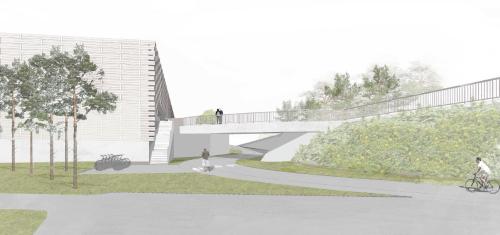Vy från söder Bild: Cedervall arkitekter