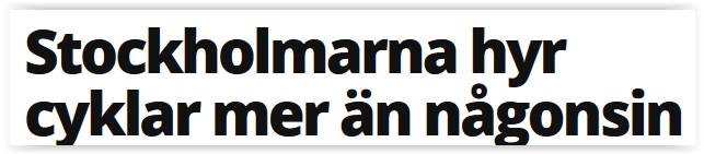 Mångmiljonsatsning på hyrcykel i Stockholm slutade i konkurs