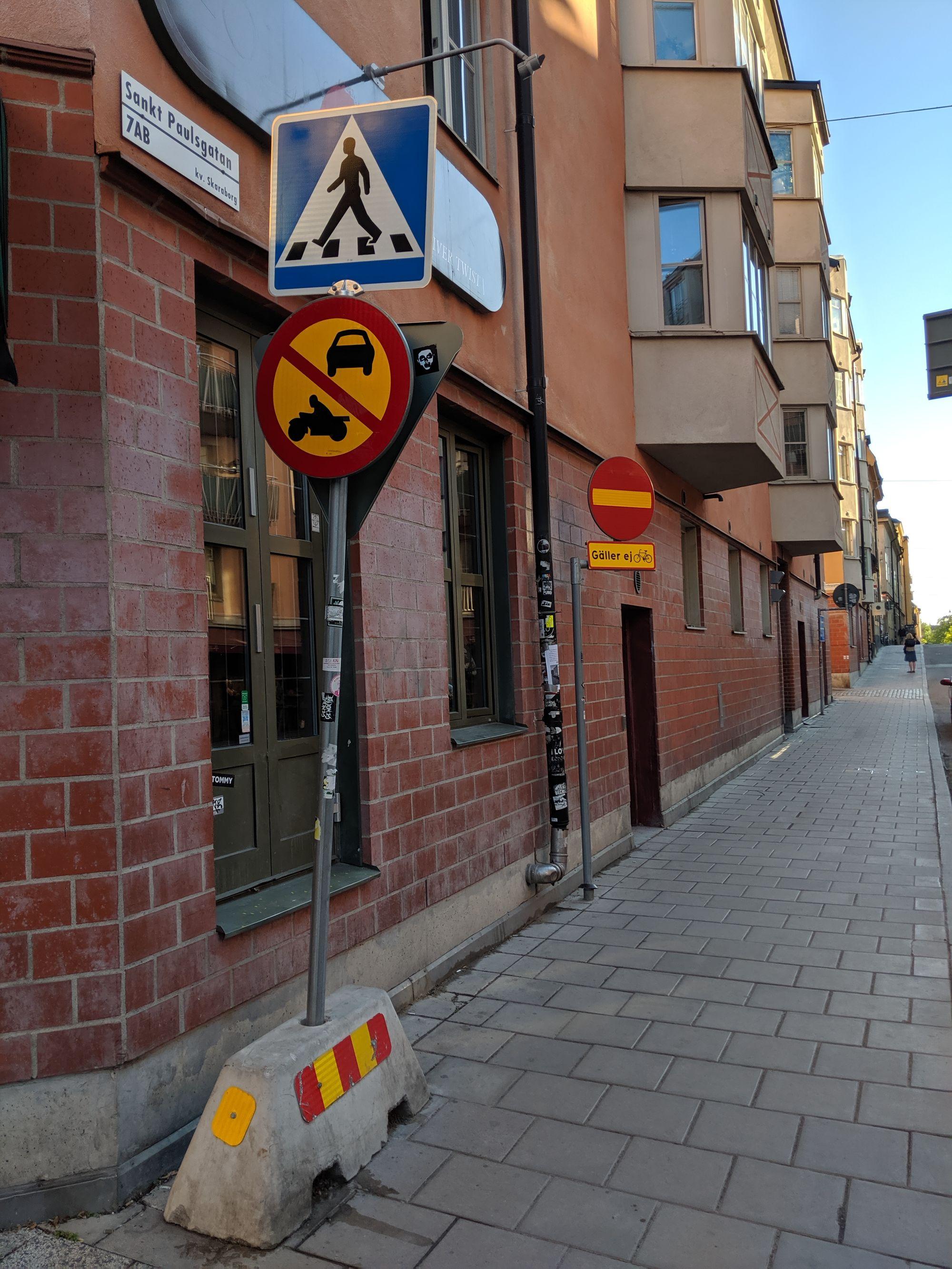 Ingen cykling mot enkelriktat i Sverige
