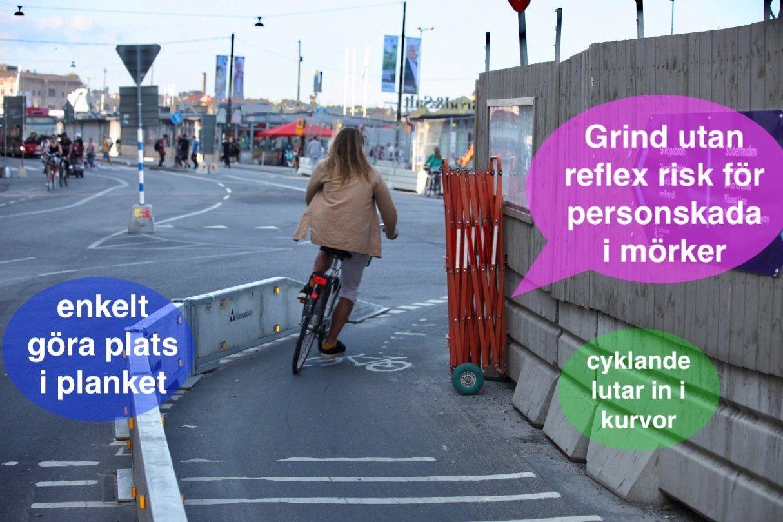 Cyklist kraschade på Skeppsbron